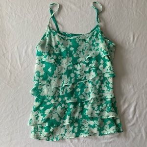 New York & Company Small Ruffle Patterned Camisole